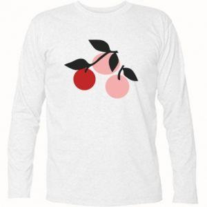 Koszulka z długim rękawem Apples on a branch
