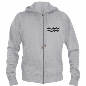 Men's zip up hoodie Aquarius constellation - PrintSalon