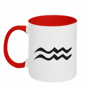 Two-toned mug Aquarius constellation - PrintSalon