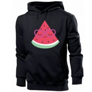 Men's hoodie Watermelon with glasses