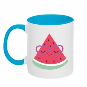 Two-toned mug Watermelon with glasses