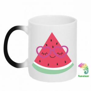 Chameleon mugs Watermelon with glasses