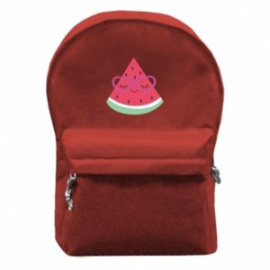 Backpack with front pocket Watermelon with glasses