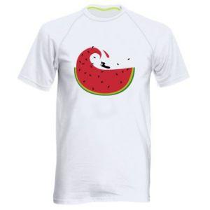 Męska koszulka sportowa Arbuz - PrintSalon