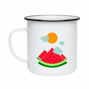 Enameled mug Watermelon