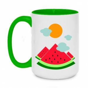 Two-toned mug 450ml Watermelon