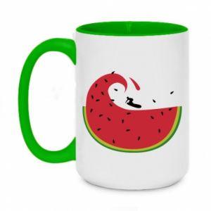 Two-toned mug 450ml Watermelon