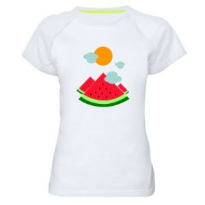 Women's sports t-shirt Watermelon