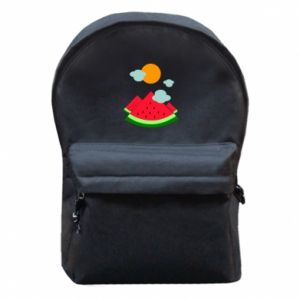 Backpack with front pocket Watermelon