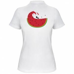 Damska koszulka polo Arbuz - PrintSalon