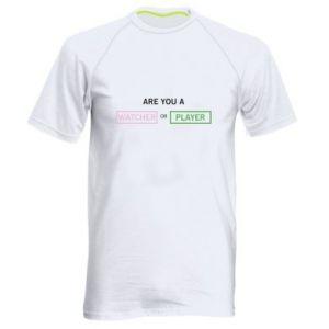 Męska koszulka sportowa Are you a watcher or player