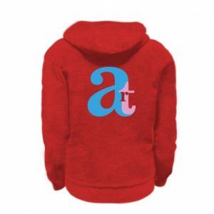 Kid's zipped hoodie % print% Art