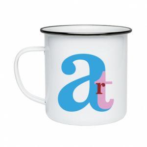 Enameled mug Art