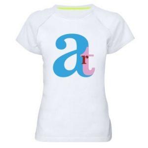 Women's sports t-shirt Art