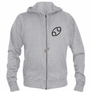Men's zip up hoodie Astronomical designation Cancer - PrintSalon