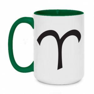 Two-toned mug 450ml Astronomical designation of Aries