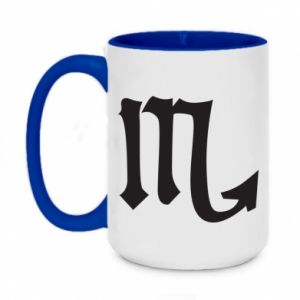 Two-toned mug 450ml Astronomical designation of Scorpio