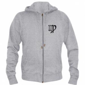 Men's zip up hoodie Astronomical Sign of the Zodiac Virgo - PrintSalon