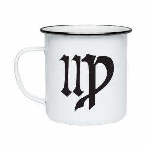 Enameled mug Astronomical Sign of the Zodiac Virgo - PrintSalon