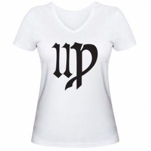 Women's V-neck t-shirt Astronomical Sign of the Zodiac Virgo - PrintSalon