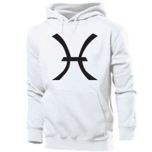 Męska bluza z kapturem Astronomical zodiac sign Pisces