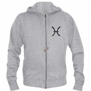 Men's zip up hoodie Astronomical zodiac sign Pisces - PrintSalon