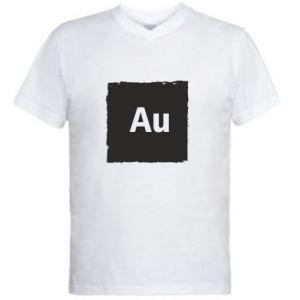 Męska koszulka V-neck Au