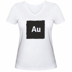 Damska koszulka V-neck Au