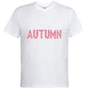 Męska koszulka V-neck Autumn - PrintSalon