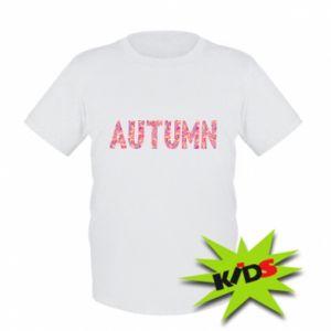 Dziecięcy T-shirt Autumn - PrintSalon