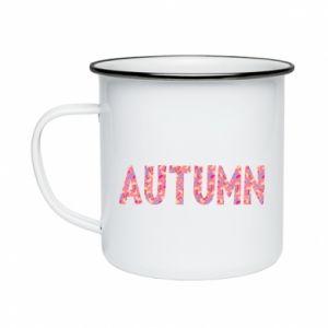 Enameled mug Autumn