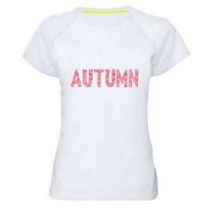 Women's sports t-shirt Autumn