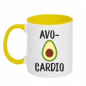 Two-toned mug Avo-cardio
