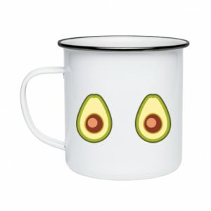 Kubek emaliowany Avocados