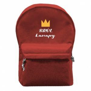 Plecak z przednią kieszenią Król kanapy