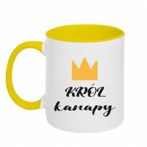 Two-toned mug King of the couch - PrintSalon