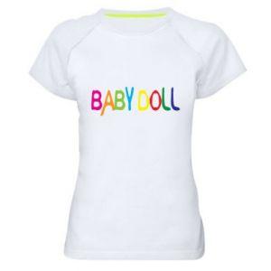 Koszulka sportowa damska Baby doll