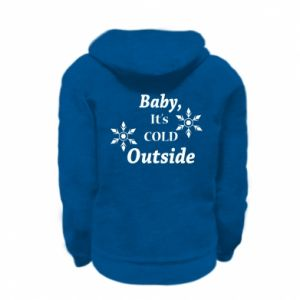 Kid's zipped hoodie % print% Baby it's cold outside