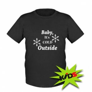 Dziecięcy T-shirt Baby it's cold outside