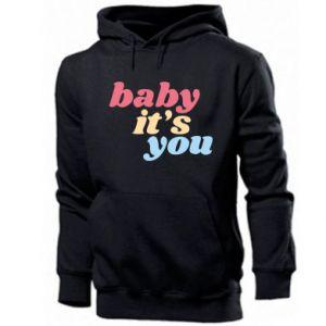 Męska bluza z kapturem Baby it's you