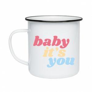 Kubek emaliowany Baby it's you