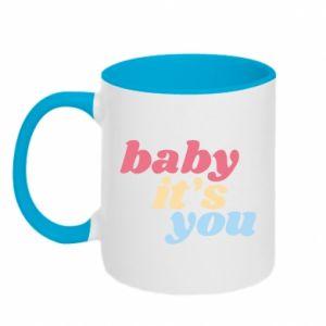 Kubek dwukolorowy Baby it's you