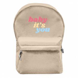Plecak z przednią kieszenią Baby it's you