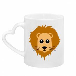 Kubek z uchwytem w kształcie serca Baby lion