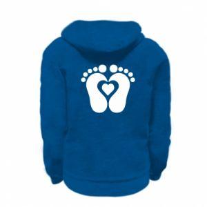 Kid's zipped hoodie % print% Baby love