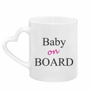 Kubek z uchwytem w kształcie serca Baby on board