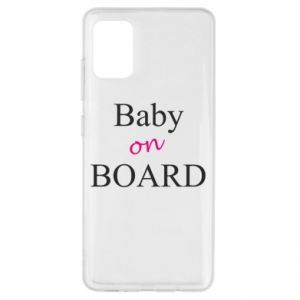 Etui na Samsung A51 Baby on board