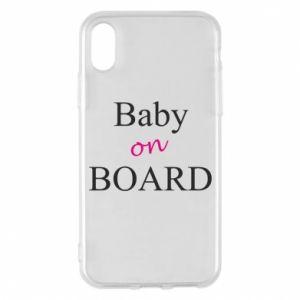 Etui na iPhone X/Xs Baby on board