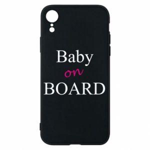 Etui na iPhone XR Baby on board
