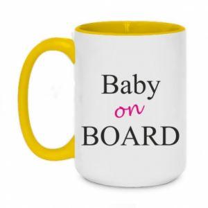 Two-toned mug 450ml Baby on board